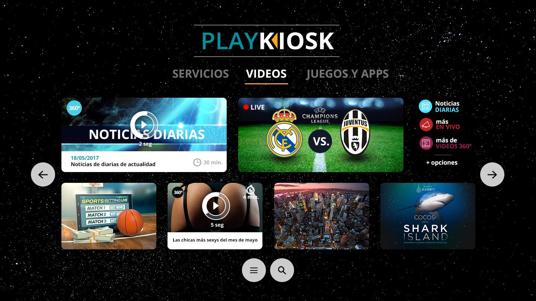 Diseño Web PlayKiosk y VR