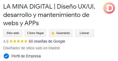 La mina digital diseño UX-UI desarrollo y mantenimiento web